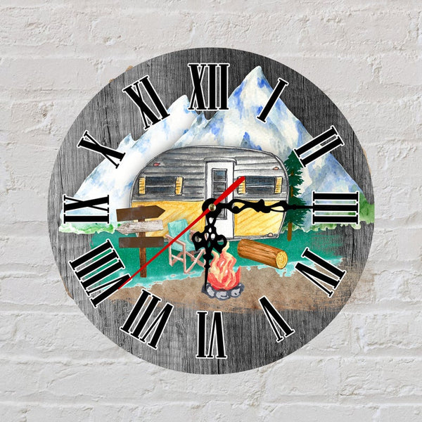 Sublimation print (ONLY) - Camper Clock - Time spent with family is worth every second - Made for our sublimation blanks
