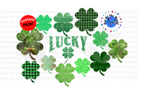 Bundle set of 12 pc / You get all 12 for one price / Clover and lucky (Instant Print) Digital Download
