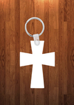 Cross Keychain - Single sided or double sided  -  Sublimation Blank