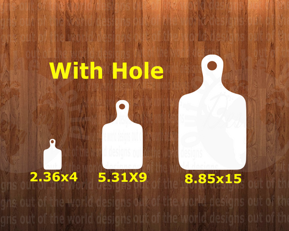 With hole - Cutting board - 3 sizes to choose from -  Sublimation Blank  - 1 sided  or 2 sided options