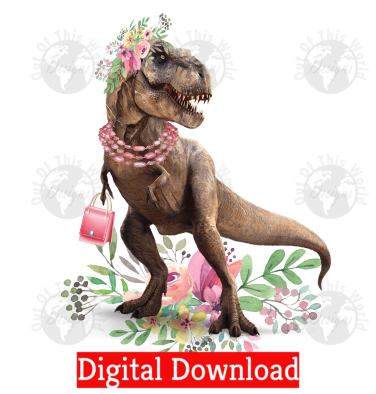 Glam Dinosaur (Instant Print) Digital Download