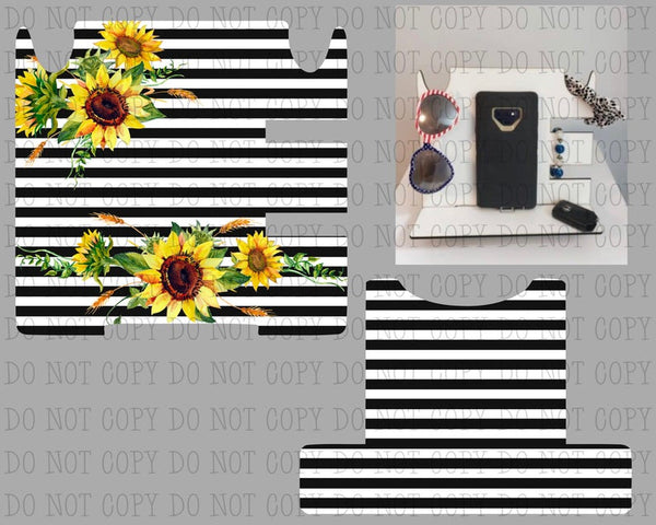Sublimation print only - Black and white stripe sunflower  - Made for our docking station