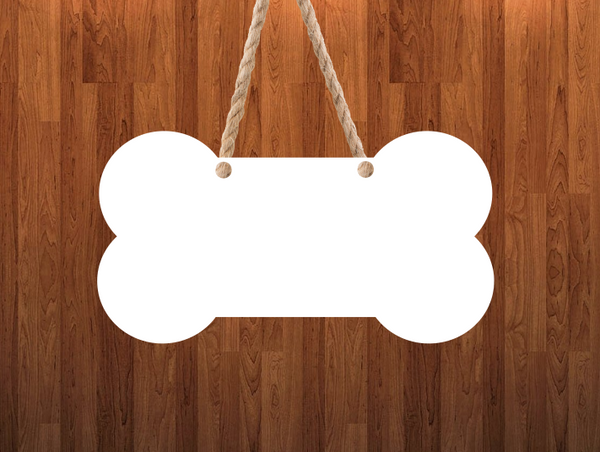 Dog bone  Door - Wall Hanger - 3 sizes to choose from -  Sublimation Blank  - 1 sided  or 2 sided options