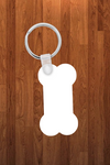 Dog bone Keychain - Single sided or double sided  -  Sublimation Blank