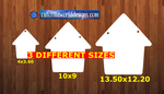 Dog house with holes - Wall Hanger - 3 sizes to choose from -  Sublimation Blank  - 1 sided  or 2 sided options