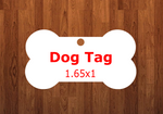 Dog tag - Single sided or double sided  -  Sublimation Blank