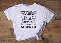 (Instant Print) Digital Download - Drink wine in the shower