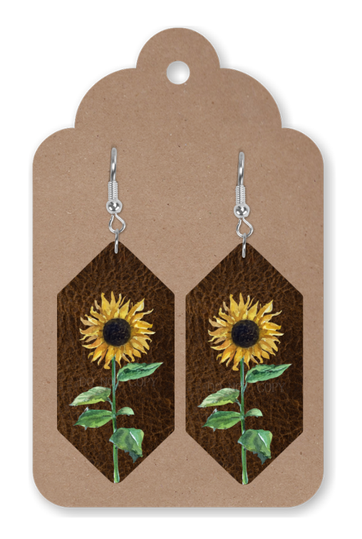 Digital download -  Hexagon sunflower earring - made for our sub blanks