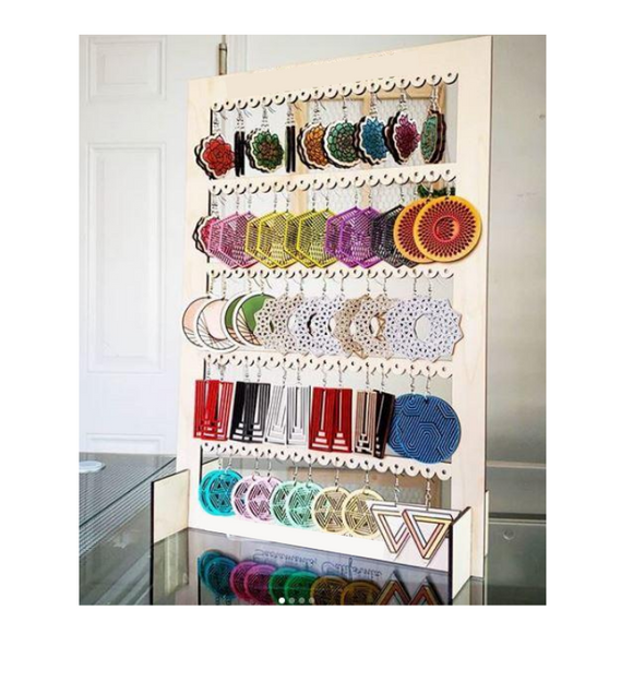 Earring display holds 45 pairs of earrings -  Sublimation Blank  - 1 sided  or 2 sided options