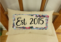 Sublimation print - Est. Date with frame
