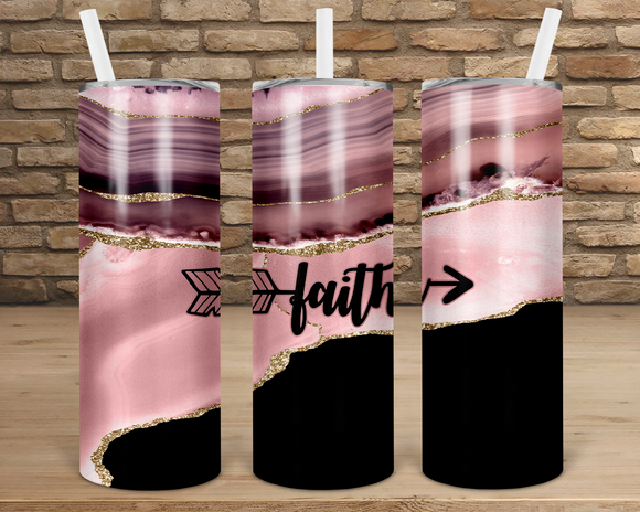 (Instant Print) Digital Download - Faith - 20oz skinny straight & tapered tumbler wrap