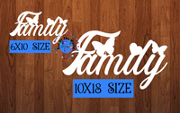 Family Hanging Sign - (WITH Holes) - 2 sizes to choose from