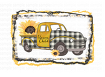 (Instant Print) Digital Download - Flower Child Sunflower Truck