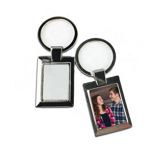 Picture frame keychain - 1 piece or 10 piece bulk option