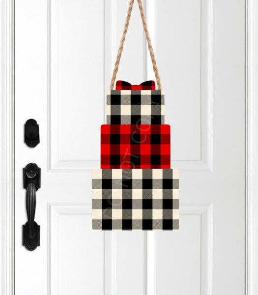 Sublimation print ONLY - Plaid - gift   - Made for our MDF sublimation rounds