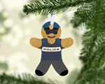 (Instant Print) Digital Download - Gingerbread man police design - Straight & Tapered included