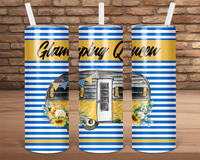 (Instant Print) Digital Download - Glamping queen wrap for 20oz skinny tapered tumbler
