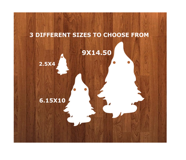 With Holes - Gnome with feet with hole Door - Wall Hanger - 3 sizes to choose from -  Sublimation Blank  - 1 sided  or 2 sided options