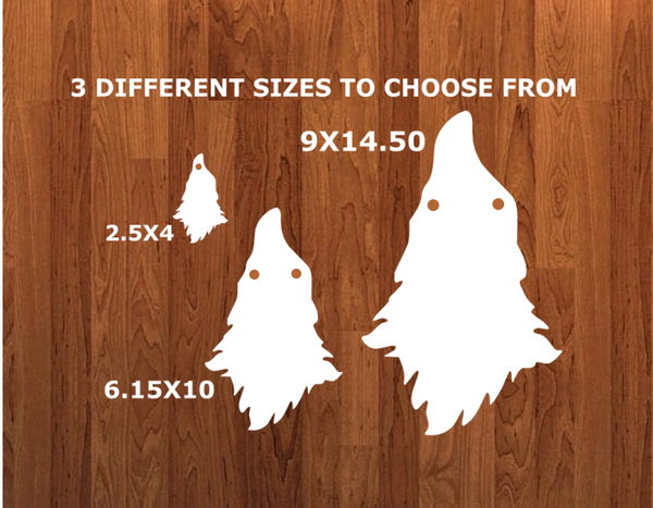 With HOLES - Gnome without feet with hole Door - Wall Hanger - 3 sizes to choose from -  Sublimation Blank  - 1 sided  or 2 sided options