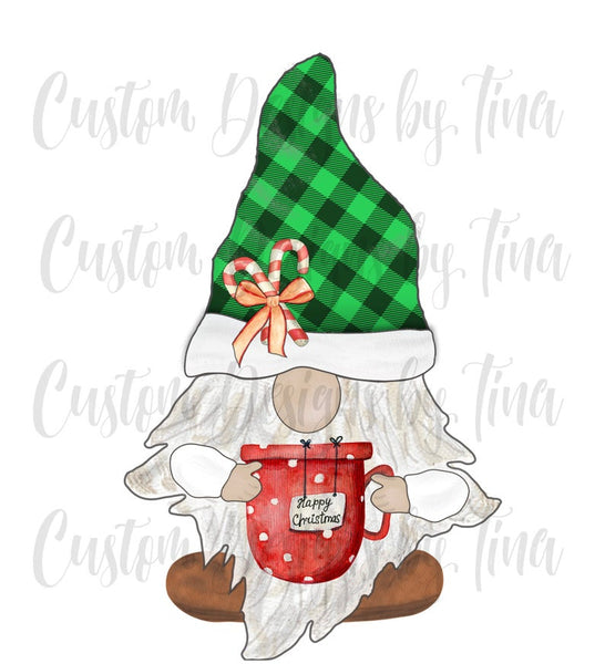 Sublimation print - Merry Christmas gnome - Made for our MDF sublimation blanks