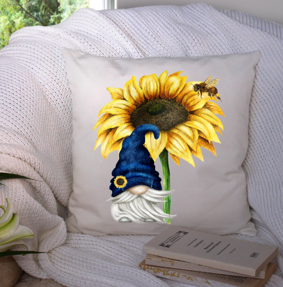 Digital download - Sunflower blue jean gnome