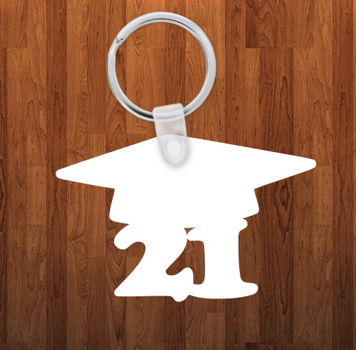 Grad 21 Keychain - Single sided or double sided  -  Sublimation Blank