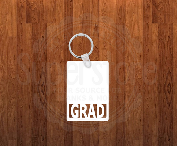 Grad Keychain - Single sided or double sided - Sublimation Blank