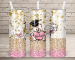 (Instant Print) Digital Download - Proud Graduate Bear  - 20oz skinny  tumbler wrap