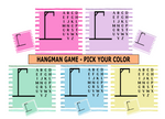 Sublimation print (ONLY) - Hangman pick your color & size - Made for our MDF sublimation boards