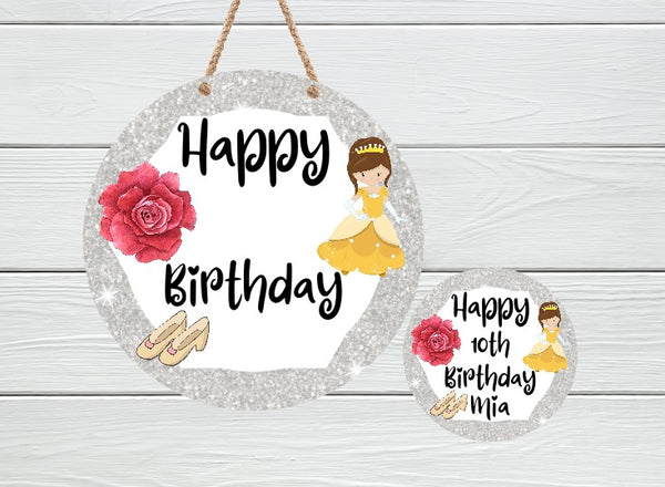 Sublimation print - Happy Birthday Princess  - Made for our MDF sublimation rounds