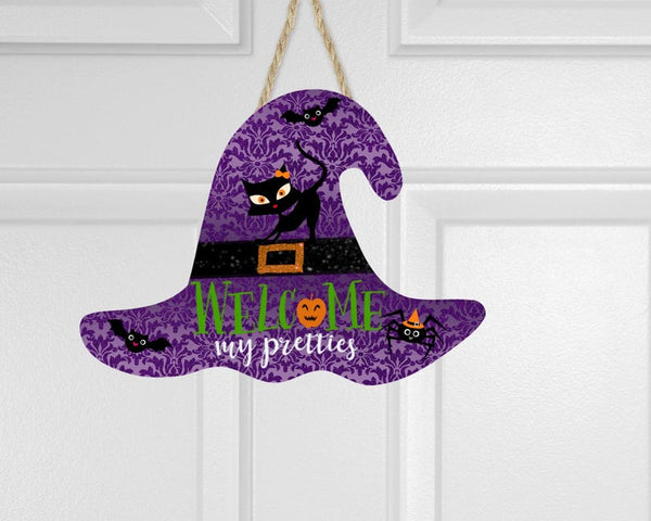 Sublimation print (ONLY) - Welcome my pretties witch hat - Made for our MDF sublimation blanks