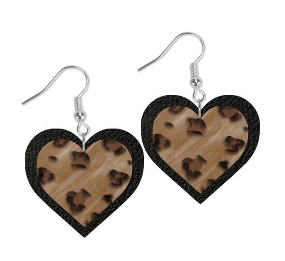 (Instant Print) Digital Download - Heart cheetah and leather design - Made for our  blanks