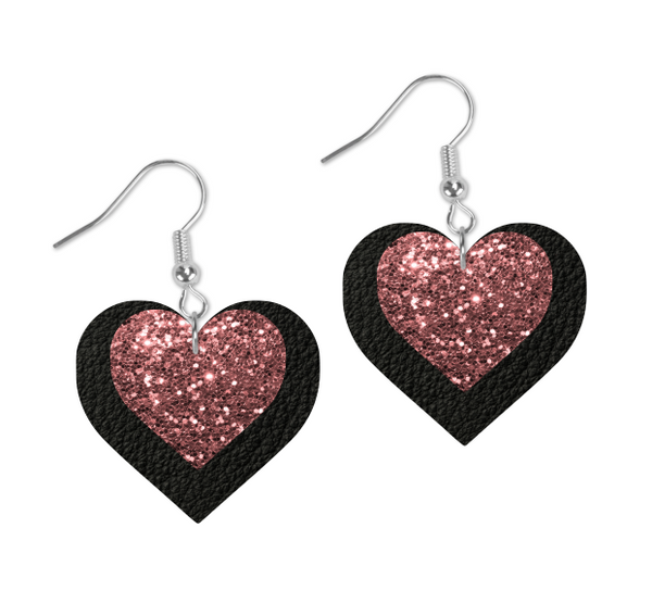 (Instant Print) Digital Download - Heart glitter & leather double layer design - Made for our  blanks