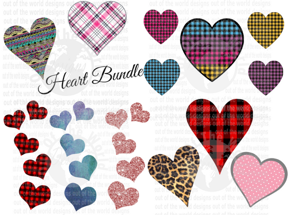 Heart Bundle / Bundle set of 13 pc / You get all 13 for one price  (Instant Print) Digital Download
