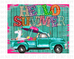 Sublimation print -  Hello Summer  - Made for our MDF sublimation blanks