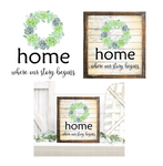 (Instant Print) Digital Download -  3pc Home is where our story begins