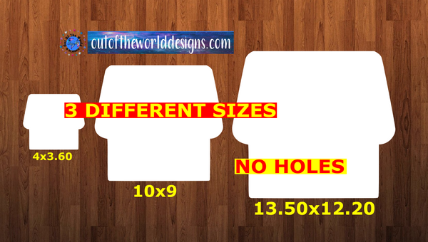 WITHOUT HOLES - House - Wall Hanger - 3 sizes to choose from -  Sublimation Blank  - 1 sided  or 2 sided options