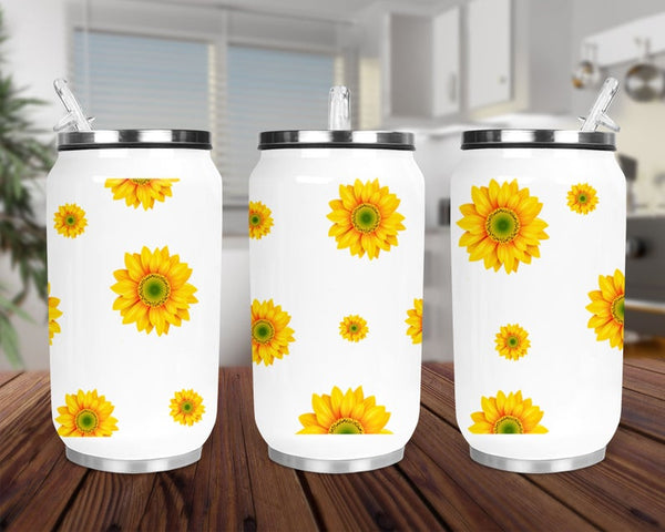Sublimation print (ONLY) -  Sunflower can cup - Can cup print