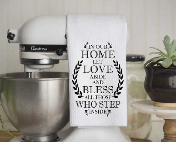 (Instant Print) Digital Download - In our home let love abide and bless all those who step inside