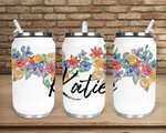 Sublimation print (ONLY) -  Personalize your flower sippy cup - Can cup print