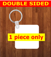 Square Keychain - Single sided or double sided  -  Sublimation Blank
