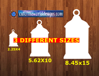 Lantern - Wall Hanger - 3 sizes to choose from -  Sublimation Blank  - 1 sided  or 2 sided options