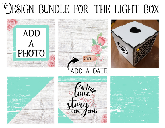 (Instant Print) Digital Download - Light box design - Add your own photo - Made for our  blanks