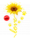 Love with paw prints (Instant Print) Digital Download