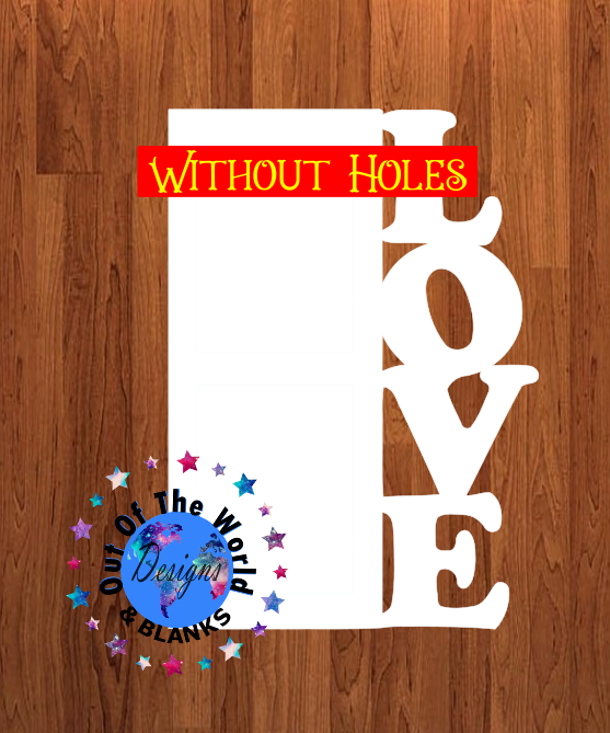 Love blank WITHOUT holes 10 inch size