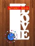 Love blank WITHOUT holes 14.5 inch size