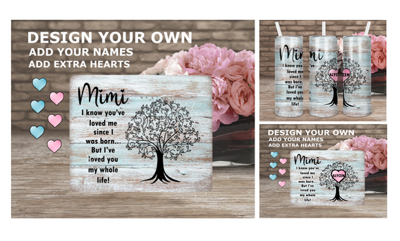 Digital download - I know you've loved me singular- Personalized Mothers Day design - 4pc bundle