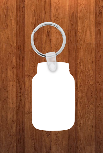 Mason jar Keychain - Single sided or double sided  -  Sublimation Blank
