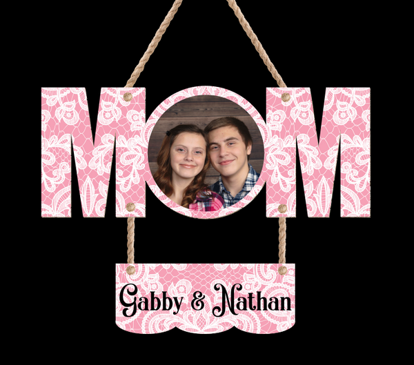 (Instant Print) Digital Download - Mom 2pc for the MDF signs - Add your own photo and names
