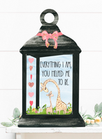 (Instant Print) Digital Download - MOM ... Everything I am you helped me to be.  lantern - made for our blanks
